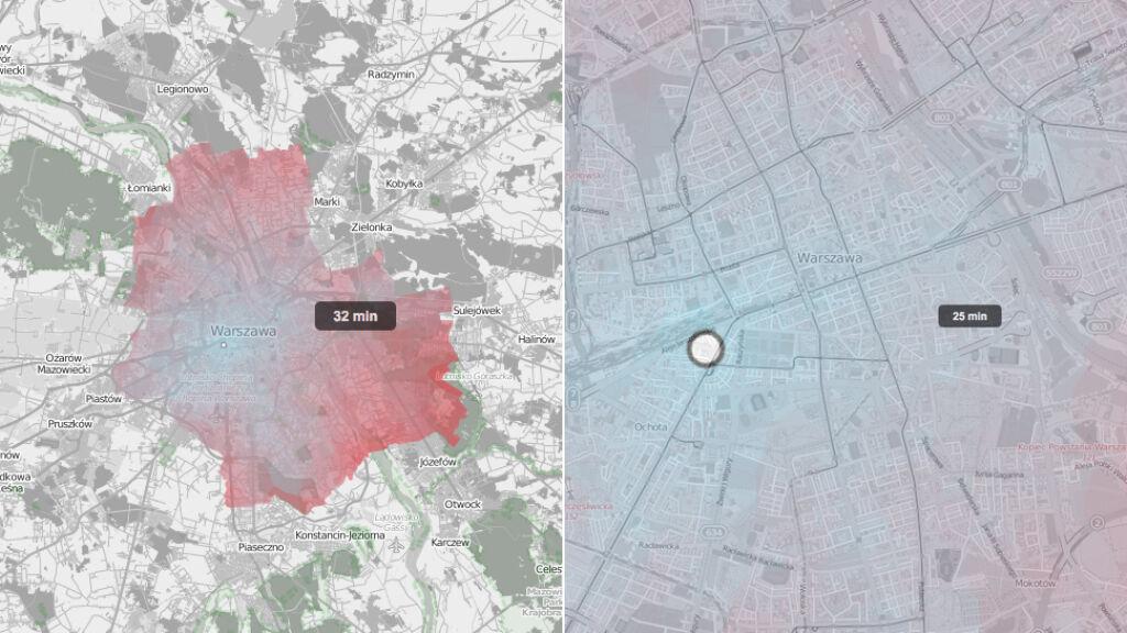 Interaktywna Mapa Pokaże Jak Szybko Dojedziesz Do Celu