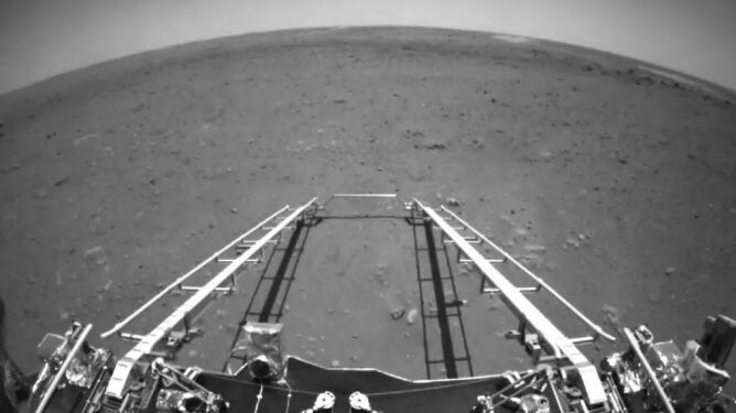 Są pierwsze zdjęcia z Marsa, jakie wykonał chiński łazik