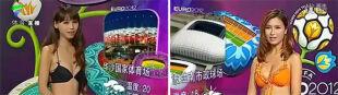 Chinki prognozują Euro w bikini. Walczą o miliony widzów