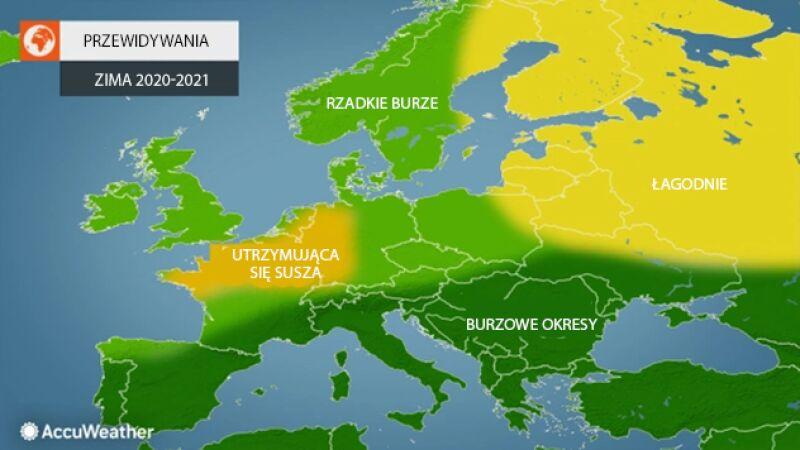 Przewidywania meteorologów AccuWeather na zimę 2020/2021