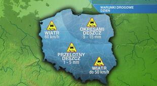 Warunki drogowe w czwartek